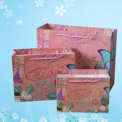 Réticule de l'emballage du papier de gros sac sac cadeau sac de papier pour l'heure