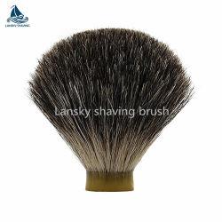 混合された灰色のアナグマの毛の剃るブラシの結び目