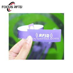 Bracelet RFID UHF de papier personnalisé Papier Smart Tag Wristbandfor le contrôle des accès