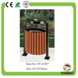 Metal madera Papelera de reciclaje (TY-41507)