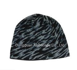 Camoflague は冬を編む帽子の帽子を印刷する