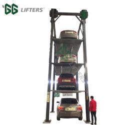 2.5 tonnes 2-3 niveaux de levage de stationnement de voiture à gerbeur de cylindre hydraulique