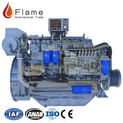 Китай Weichai Deutz 250 HP 168квт морской дизельный двигатель wp6 двигателя на лодке с высоким качеством
