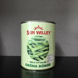 Las conservas de todo el grano verde en agua 400 g