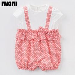 夏の綿の女の子の赤ん坊のロンパースの女の子の衣服に着せている優れた品質の卸売の子供の摩耗の子供