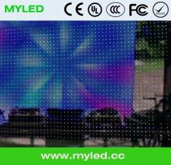 Rideau flexible visuel léger de haute résolution en écran de visualisation de rideau en P10 LED DJ LED pour des contextes d'étape