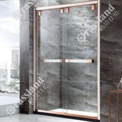 Moderne Rechthoek 304 Scherm van de Douche van het Bad van het Glas van het Roestvrij staal het Glijdende