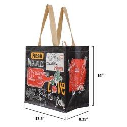 Grand sac fourre-tout acheteur recyclé stratifié