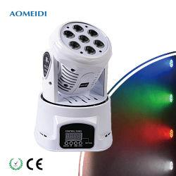 7ПК 10W мероприятия свадебные DJ LED мини-перемещение головки промойте лампа