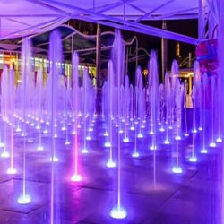 Fontana di acqua del pavimento di musica del LED per Central Park
