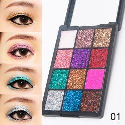 Оптовая торговля очаровательный Professional 5 стиле 12 цветов матовая Блестящие цветные лаки порошок теней составляют Eyeshadow палитра порошок мода