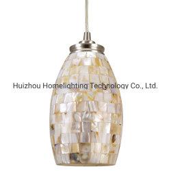 مصباح مصباح معلق بندول زجاج شل مصنوع يدويًا من Mosaic، JLC-9073