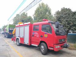 Dongfeng DFAC Feuer-Rettungs-LKW mit elektrischer Handkurbel und 3 Tonnen-Kran, die wir nach Birma exportieren
