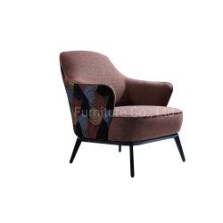 Muebles Sala de estar solo la ropa de tela roja sofá reclinable Leslie silla con otomana