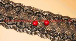 Una muestra gratis a bajo precio de la frontera de Color de coser prendas de tejido de poliéster bordado de encaje Net
