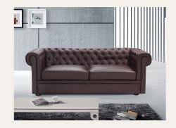 Sillón Chesterfield en marrón/ clásico moderno sofá Chesterfield