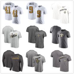 Мужчин в новых святых величественные черный Showtime логотип Tx3 Cool ткань футбола Tshirt