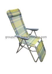 Plegado exterior Textilene Silla de playa y ocio sillón reclinable para romper el mediodía