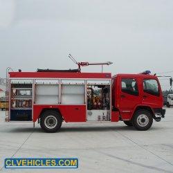 De Brandkraan van de Vrachtwagen van de Brandbestrijding 8000litres Isuzu en de Tanker van het Vuurwater