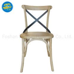 Cruz de cinzas de Carvalho de madeira maciça de volta para casa jantar Cadeira de mobiliário