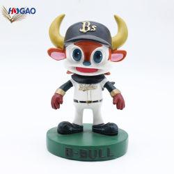Best-seller personnages de dessins animés d'articles de sport les joueurs de l'artisanat de résine Figurines Custom Bobble tête pour la vente