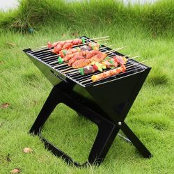 Openlucht het Kamperen BBQ van de Barbecue van de Houtskool van de Reis Compacte Draagbare Vouwende Grill