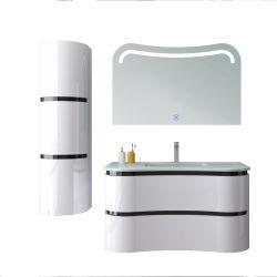 Une exquise DESIGN EXTÉRIEUR DESIGN irrégulière Wallmounted blanc Salle de bains Vanity Cabinet