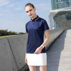 卸し売りカスタマイズ可能な方法ゴルフ偶然ビジネス不足分の袖のポロのTシャツを揺すっている人および女性のための屋外の男女兼用のポロシャツ