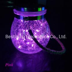 Décoration de Noël à LED Solaire de Jardin Lampe de feu de Globe pour l'extérieur