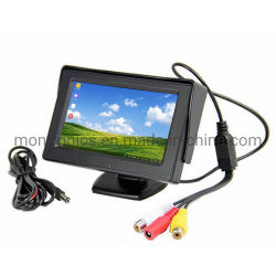 12V-24V 16: 9 panorámico de 4,3 pulgadas TFT LCD Monitor coche CCTV