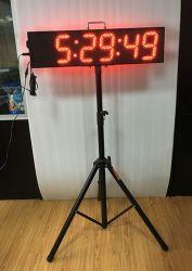 LED de 8 pouces Tuoxing grand marathon Minuterie compte à rebours de LED de l'horloge chronomètre avec mallette de transport et le trépied
