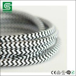 Indicatore luminoso elettrico del pendente del collegare del cotone del cavo di colore del cavo del tessuto di tessile