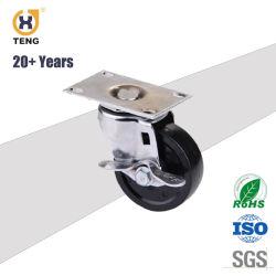 """伝導性3 """" 4 """" 5 """"または反空電ESDの旋回装置PPの足車の車輪"""