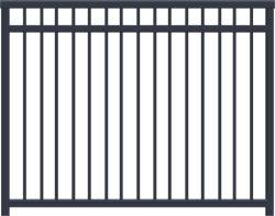 Aluminium Picket Fence Metal Garden Contemporary Aluminium Garden Border Fence Metalen panelen