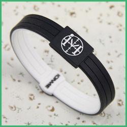 Conception personnalisée en usine de promotion Bracelet en silicone en caoutchouc