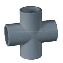Эпоха высокого качества систем трубопроводов из ПВХ трубы фитинг креста тройник расписание 80 с ASTM D2467 пробуксовки NSF-Pw и блок защиты и коммутации