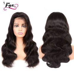 人間の毛髪のかつらを出荷する卸し売りクチクラによって一直線に並べられる毛HDのレースの前部かつらの低下