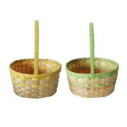 Commerce de gros cadeaux de bambou ronde décoratifs Panier avec poignée