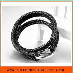Hoogwaardig titanium stalen lederen armband voor groothandel (BL2860)