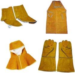 Aislamiento térmico delantal soldador Cuero Cuero Kit de protección de soldadura