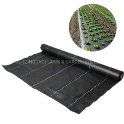 China fornecimento fábrica de PP Tecidos de malha de barreira de Plástico Preto Tapete Anti Controle de Ervas Daninhas