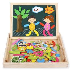 رسم [وريتينغ بوأرد] ينشّف [جيغسو بوزّل] [إرس] مزدوجة جانب لعبة هبة لعب خشبيّة تربويّ لأنّ طفلة جدية