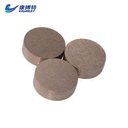 Cobre de tungstênio eletrodo rotativo para a PCD erosão de disco usinagem (elkonite) Rwma Classe 10, Classe 11, Classe 12