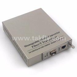 1000Mbpsによって管理されるタイプ光ファイバ媒体のコンバーター