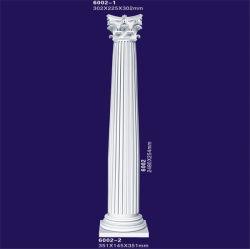 Forma redonda com poliuretano painéis decorativos Colunas / colunas romanas para House Villa Hotel
