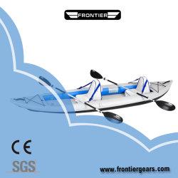 La pêche en PVC gonflable Touring canoë kayaks de mer avec la tôle de plancher de couture