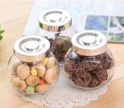 Cubiertas de almacenamiento de botellas de vidrio Jarra Spice para utensilios de cocina