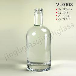 750ml popolari svuotano la bottiglia di vetro dell'alcool del liquore del vino della spremuta del whisky di spirito della vodka