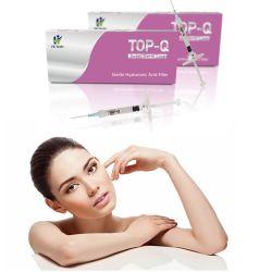 2ml Top-Q de Calidad cutánea facial inyectable de relleno de gel de ácido hialurónico vinculado de la cruz