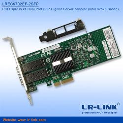 PCI Express с двумя портами Gigabit SFP карта локальной сети серверный адаптер совместим с Intel E1G42EF